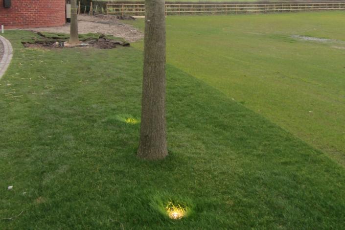 Outside residential smart lighting installation