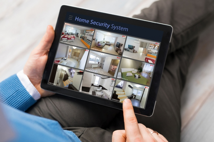 Smart home app for CCTV and security certification