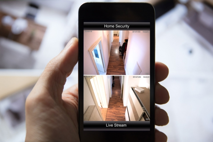 Smart phone CCTV app for access control security