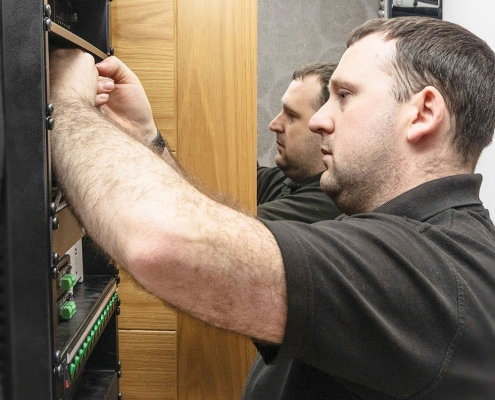 Image of a synergy smart home installation engineer and electrician