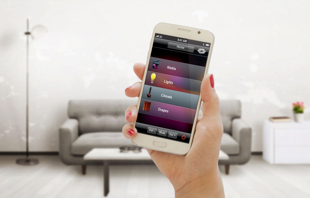 Smart home App on an iPhone