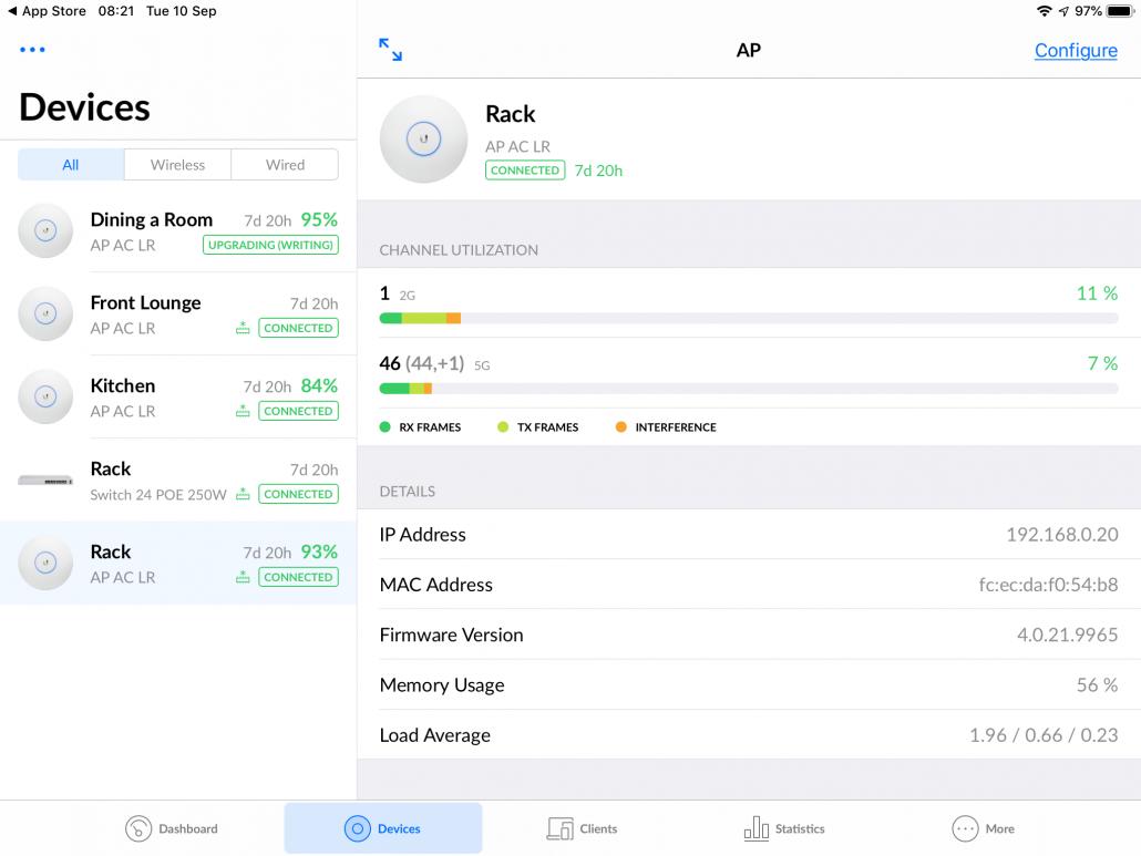 Smart home monitoring software screenshoot